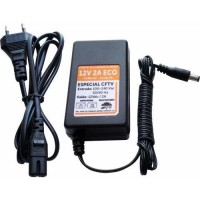 Fonte Eletrônica de Energia Fontek Bivolt - 12V - 2A com Cabo AC Plug P4