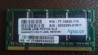 Memória Apacer 256 Mb - DDR 2 - PC2 2100