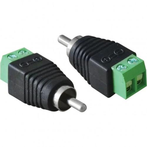 Plug RCA Macho com Borne FS 519