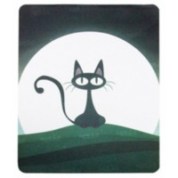 Mouse Pad - Retangular - Estampa Gato ao Luar