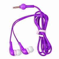 Fone de Ouvido Emborrachado Intra-auricular M5-5A Stéreo Roxo