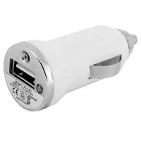 Mini Carregador Veicular XT001 - USB - 1000 MhA - Branco