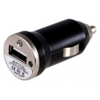 Mini Carregador Veicular XT001 - USB - 1000 MhA - Preto